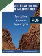 La Franja Cretácea De Pórfidos De Cobre En El Sur Del Perú
