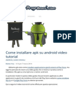 Come Installare Apk Su Android Video Guida Tutorial Italiano