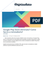 Come Installare Google Play Store Eliminato, Cancellato Dopo Un Reset