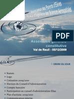 AG Constitutive du 05/12/2009 - Présentation version 1