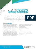 Daptiv PSA With Configuration Items