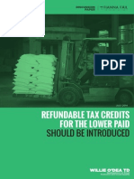 Refundable Tax Credits Discussion Paper