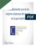 Constellation Software Presentacion