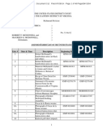 Prosecution Exhibit List