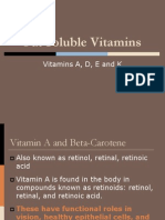 11. Fat Soluble Vitamins