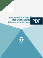 Competencias clave del profesorado de lenguas segundas y extranjeras. Instituto Cervantes (2012)