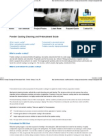 Powder Coating Cleaning and Pretreatment Guide