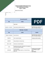 WEF Itinerary