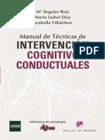 Manual de Técnicas de Intervención Cognitiva Conductuales