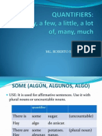 QUANTIFIERS Some Any Many Much a Little