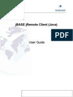 JBASE UG JRemote Client Java