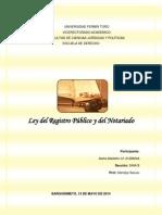 Ley Del Registro Publico y Del Notariado