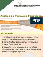 Analise de Variaveis Canonicas