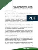 28-07-14 Palabras Marco Bernal - LEY DE HIDROCARBUROS
