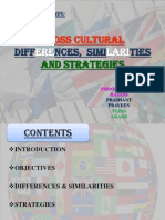 Cross Cultural Differences, Similarities and Strategies