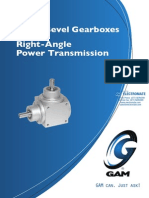 Gam Spiral Bevel Gearboxes Catalog