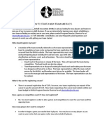 How to Start a Team and FAQ 7.2014