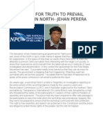 Free Media for Truth to Prevail Especially in North--jehan Perera