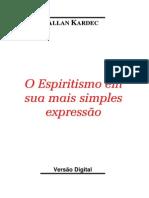 O ESPIRITISMO NA SUA + SIMPLES EXPRESSÃO
