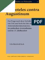 Udo Reinhold Jeck Aristoteles Contra Augustinum 1994