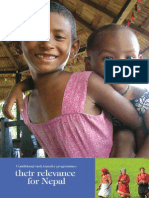 Conditional Cash Transfer Programmes – Their Relevance for Nepal DFID Nepal