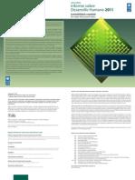 Informe Sobre Desarrollo Humano 2011