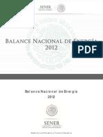 Balance Nacional de Energia 2012 (Vf)