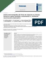 2013 Análisis Electromiográfico Del Efecto de Relajación en El Bíceps Femoral en Sujetos Sometidos a Estiramientos vs. Facilitación Neuromuscular Propioceptiva