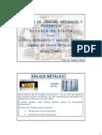 Clas Cap VII Enlace Metálico y Aleaciones