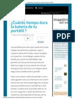 ¿Cuánto Tiempo Dura La Batería de Tu Portátil _ _Maestros Del Web