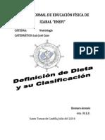 Clasificacion de Las Dietasxiomara Enefi