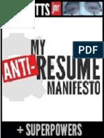 The Anti-Resume Manifesto of ROSS CUTTS