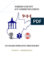 Jefferson Co Emergency Communications - SOP - March 2011