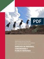 Protocolo de Actuación para quienes Imparten Justicia en casos que involucren Personas, Comunidades y Pueblos Indígenas