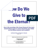 How Do We Give to The ETERNAL? (Tithing/Giving)