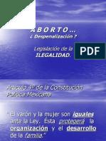 Despenalización a b o r t o