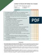 Cuestionario Eficacia Trabajo en Equipo