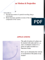 Curvilinear Motion and Projectiles