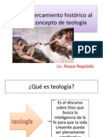 Acercamiento Histórico Al Concepto de Teología