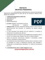 Proyecto Biblioteca Pedagogica