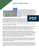 Factores Primordiales De Los Viajes A Grecia