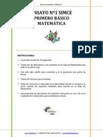 Ensayo1 Simce Matematica 1basico-2009
