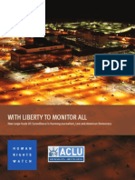 With Liberty to Monitor All HRW ACLU