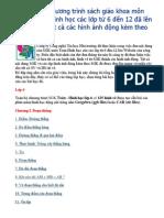 Toàn Bộ Chương Trình Sách Giáo Khoa Môn Toán HH6 Đến 9