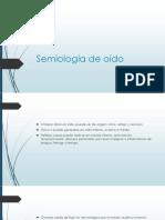 Semiología de Oído