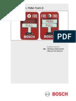 Estacion Manual de Incendio Bosh