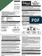 PT1 Manual
