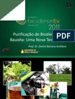 Purificação de Biodiesel Com Bauxita