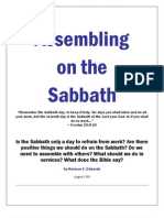 Assembing on the Sabbath