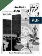 Guía Nº1 - Matemática Como Instrumento